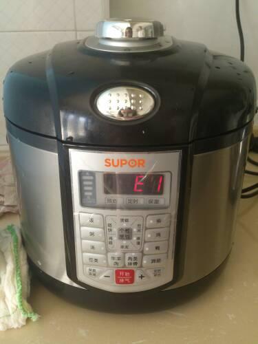 电压力锅使用视频_苏泊尔电压力锅 出现e1 如图 为什么 怎么解决_百度知道