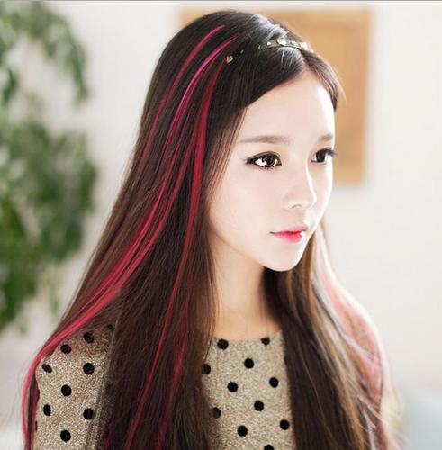发尾挑染红色头发_浅紫色挑染头发图片-挑染头发图片大全|浅紫色的挑染短发|亚麻 ...