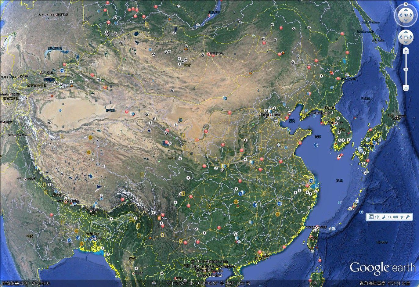 google 地图 中国 版