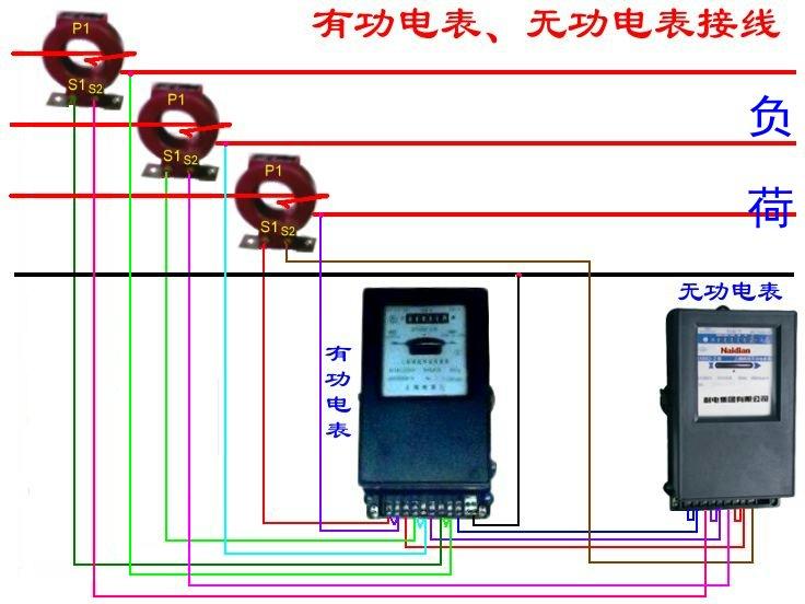 三相四线互感电表_三相四线有功表和无功表带电流互感器,交流接触器接线图_百度 ...