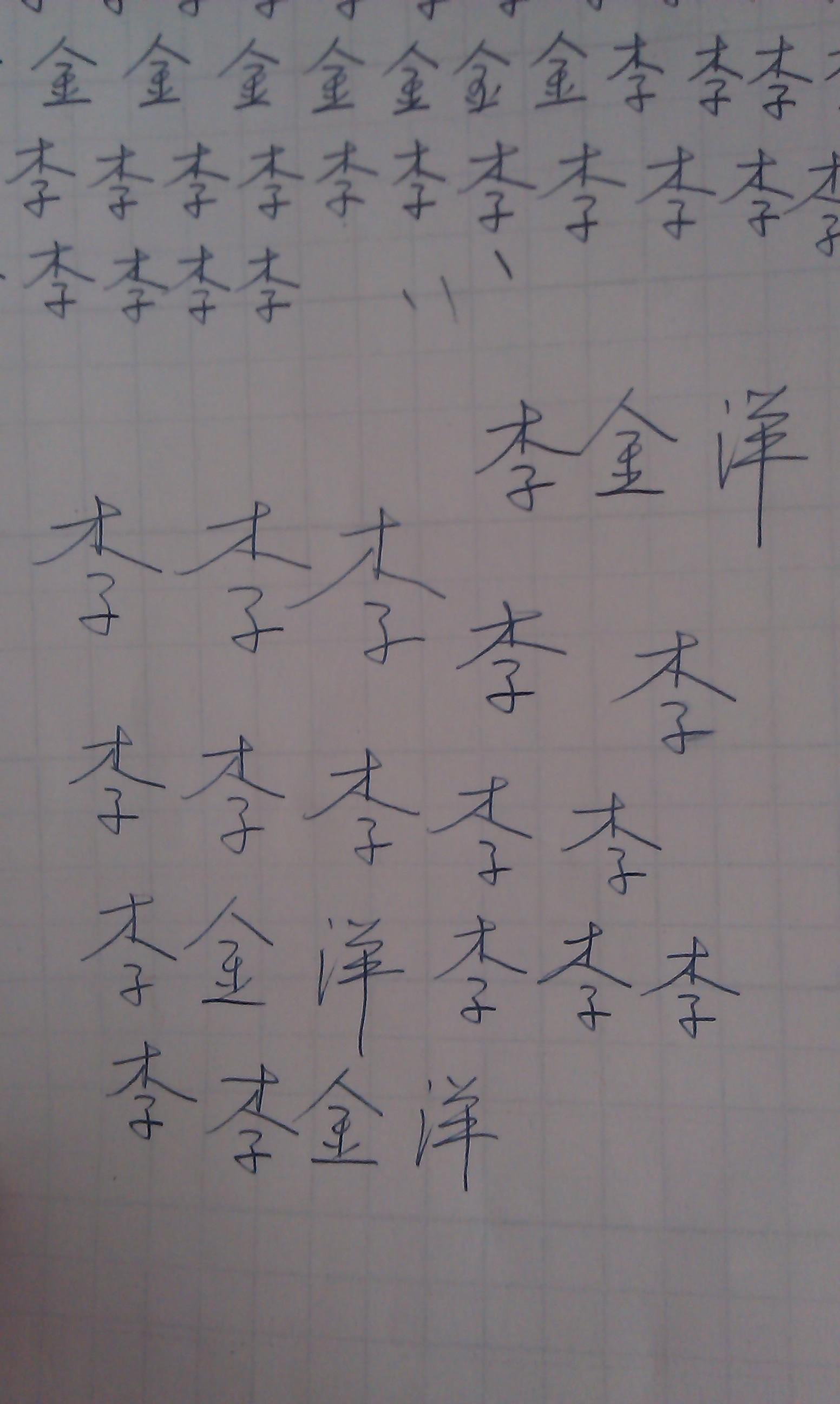 硬筆行書我的姓名,硬筆字寫得很好的進!圖片