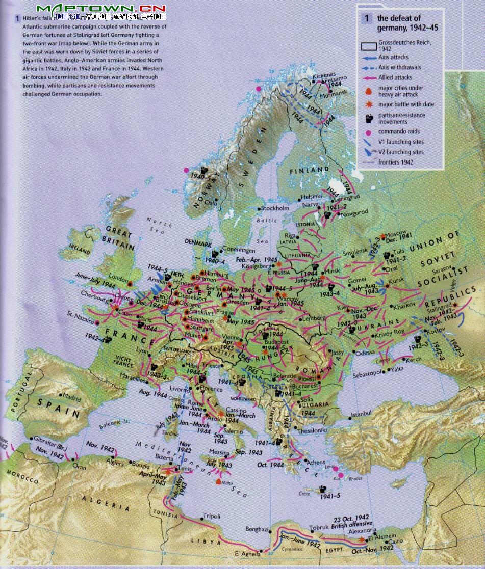 全世界的英文_求二战前,二战后(苏联解体之前)的世界地图,以欧洲为中心的最好 ...