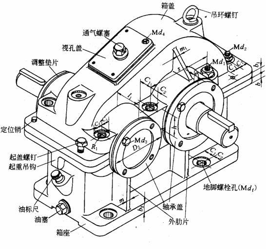 主减速齿轮零件图_跪求单级圆锥齿轮减速器的CAD文档_百度知道