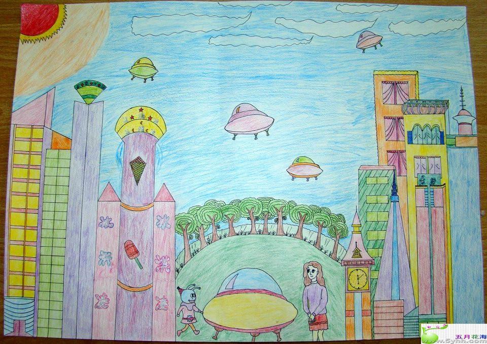 老師讓我們畫有關 我的中國夢(中國未來的發展)的繪畫圖片