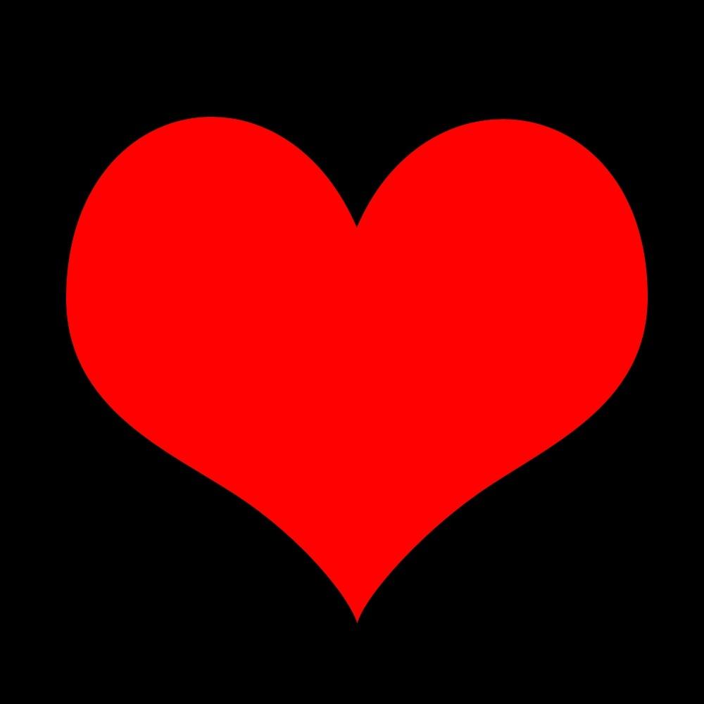 黑底红色爱心的图片黑底红色爱心的图片