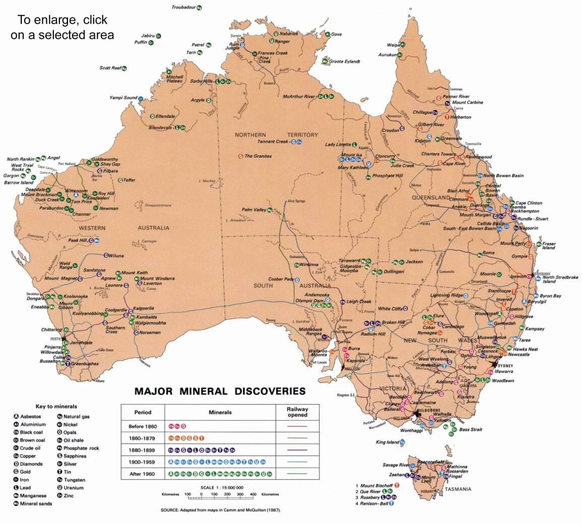 澳大利亚矿产资源图_求一张澳大利亚矿产资源分布图(要英文的)!