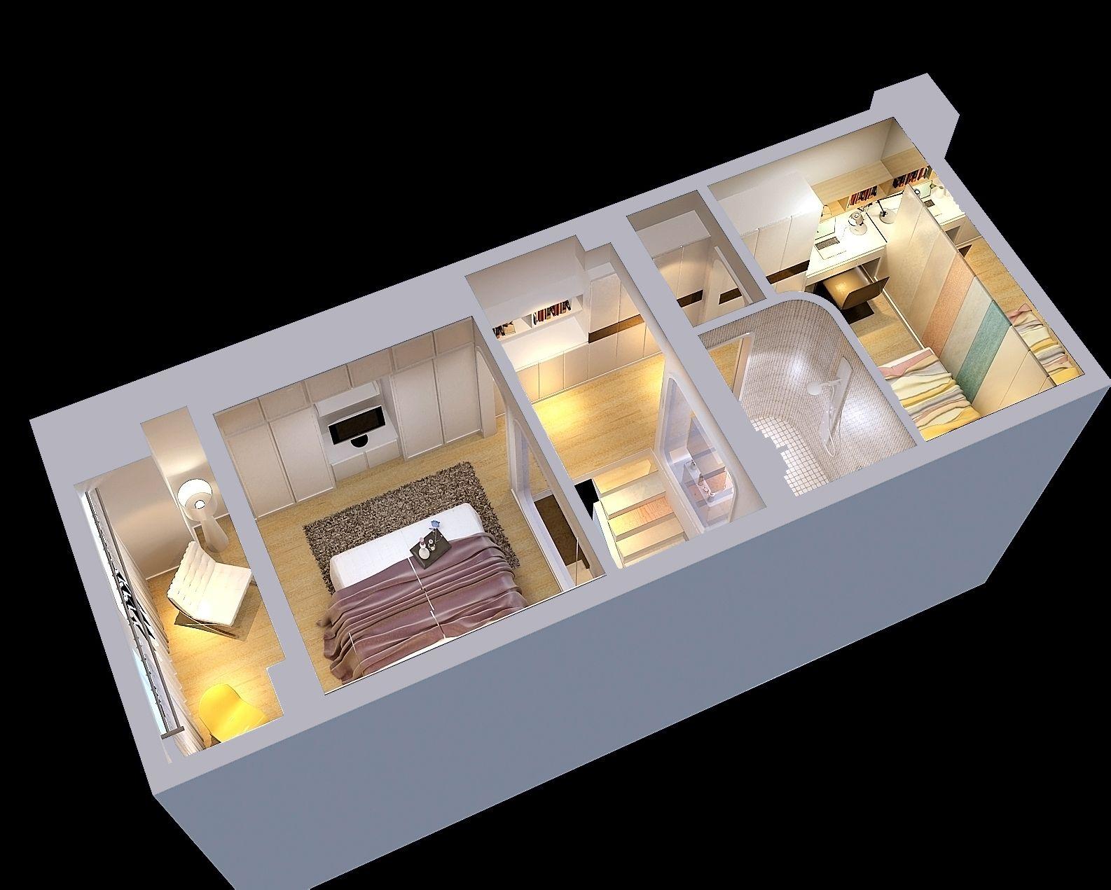 30平送一平_5送30平方的跳高小复式 一楼客厅 挑高 二楼一间卧室和卫生间属于一室
