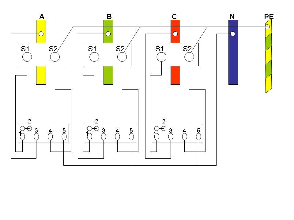 三相四线互感电表_三相四线用单相电表是怎样接线的_百度知道