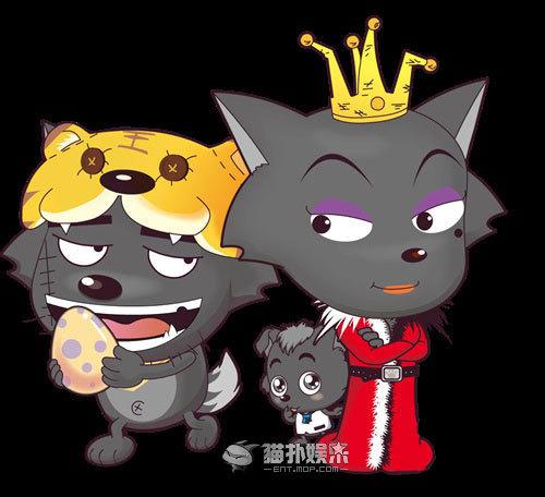 红太狼和小灰灰_我想刻一幅关于灰太狼 红太郎和小灰灰的刻纸,谁有图片可以 ...