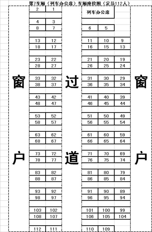 普快座位分布图_普快火车座位分布图_九九网