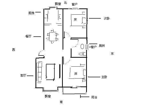 房屋風水,我的房子坐北朝南,房子大門對廁所,還有廚房圖片