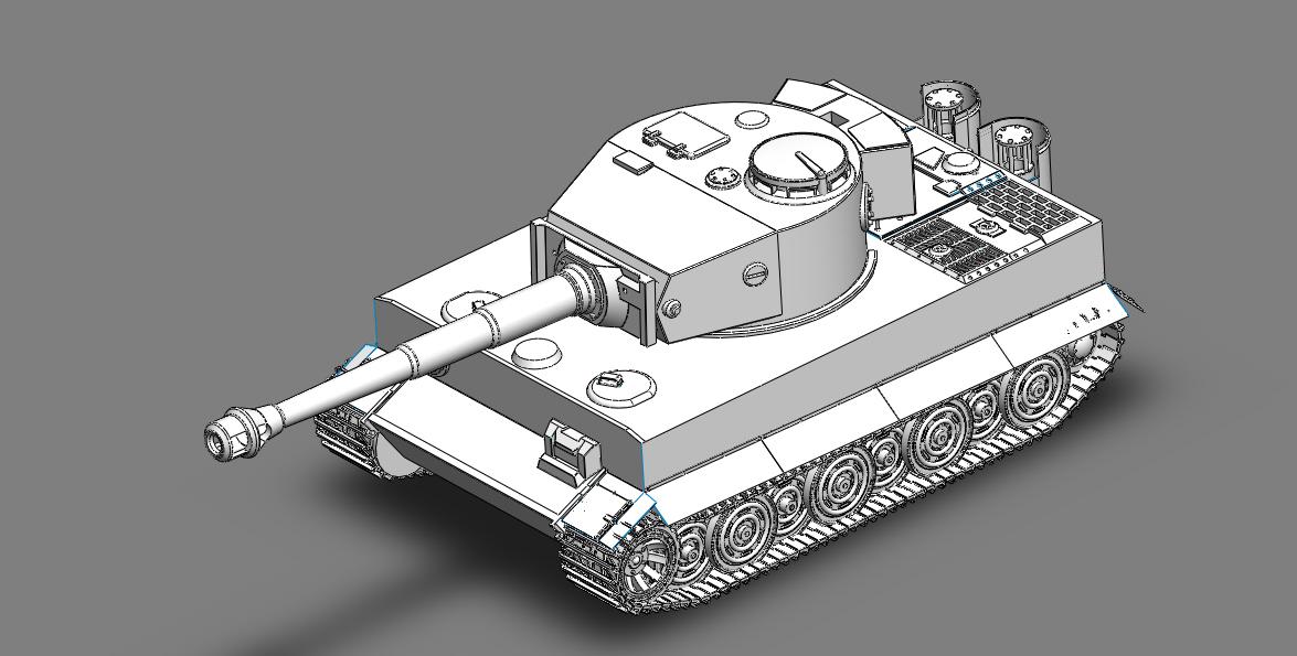 虎式坦克cad图纸_请问谁有德国 虎式 坦克 的CAD 3D 模型 图纸 平面 图纸 也行_百度知道