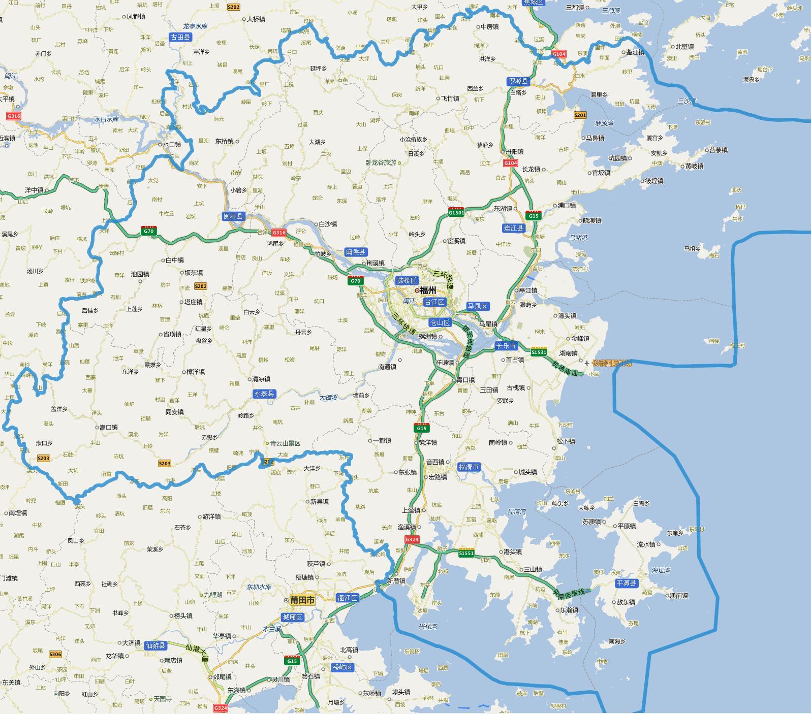 福建福州市区地图_我想要一份福州市区地图,最好包括五区八县的地图。高清的 ...