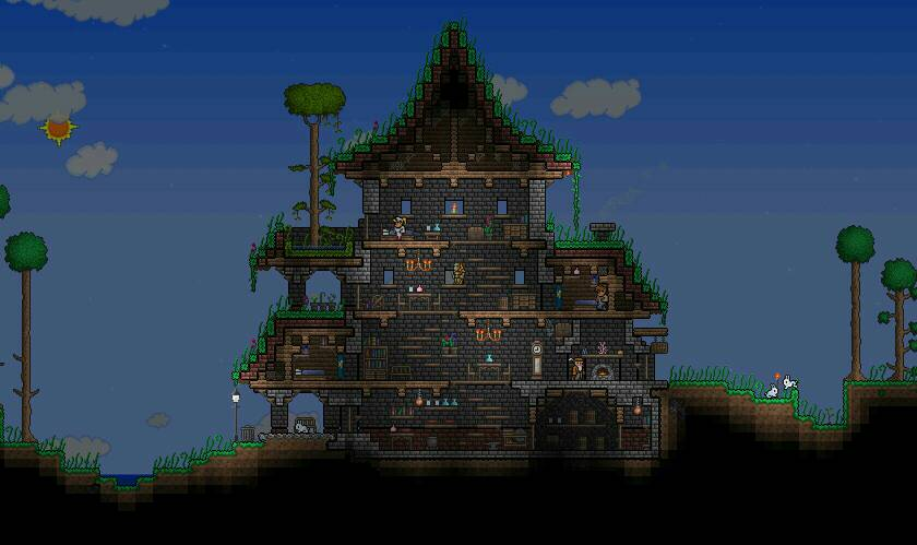 泰拉瑞亚别墅_泰拉瑞亚房子建造图_百度知道