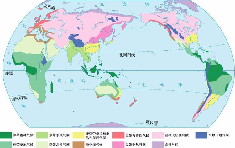 世界七大洲的气候分布图_世界气候分布图简图_完美作业网_www.wanmeila.com