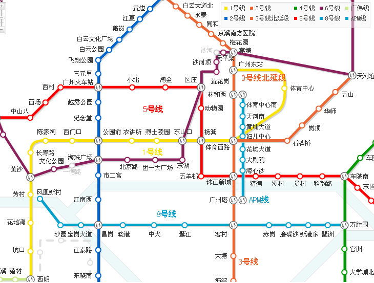 广州观光轻轨路线_广州的公交车详细路线_百度知道