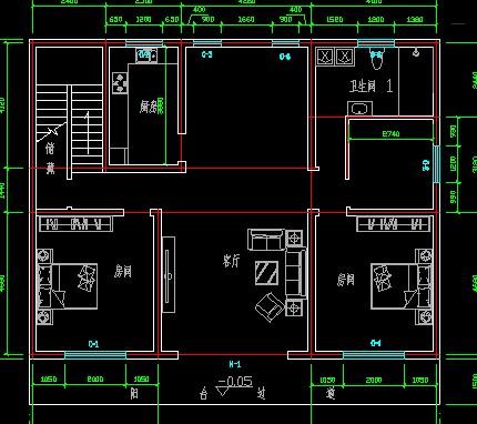 房子設計圖寬10.5米長14米怎么設計磚混三個臥室一個圖片