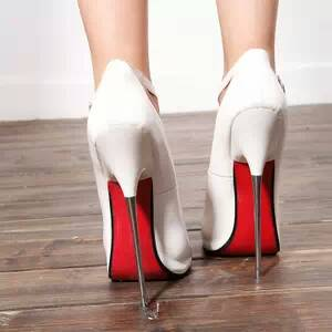 Womens Metal Heel Shoes