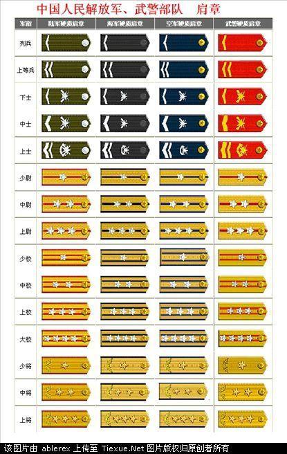 什么是五�_部队的军官级别都怎么分都是什么
