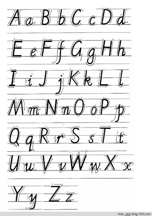我們必須教給孩子如何正確握筆,如何正確書寫英文字母.圖片