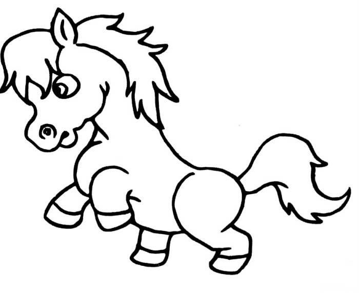 马的卡通画_卡通的马的图片简单一点_百度知道
