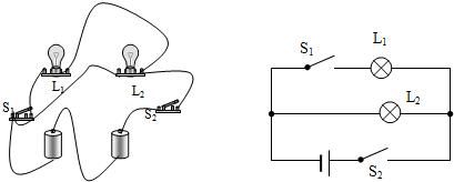 并联电路实物连接_按要求连接实物图,并画出电路图,并在电路图中标出电流的 ...