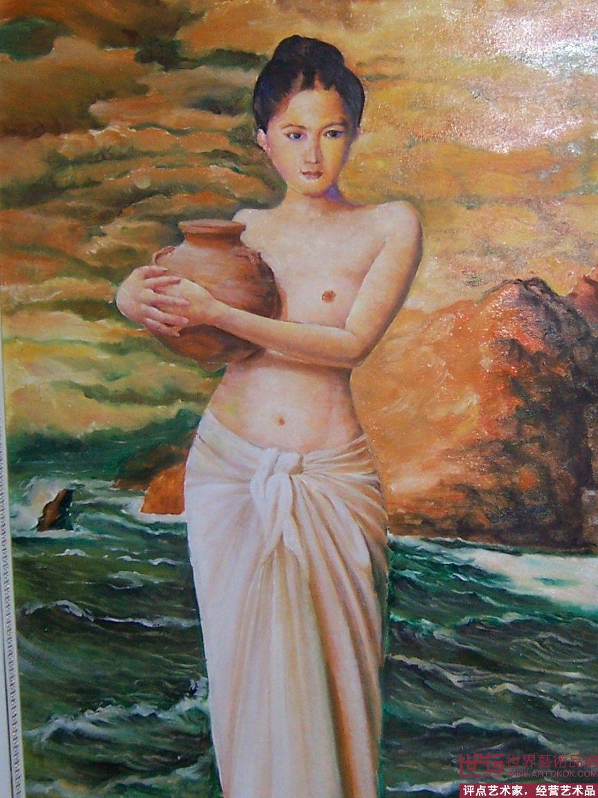 一个女人拿一把伞_有一幅油画一个女人手里拿着一盆花_百度知道
