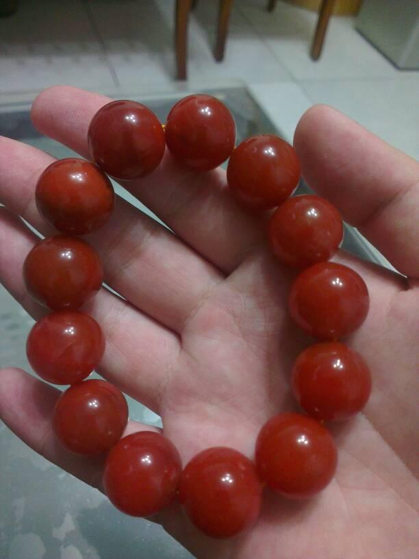 保山南红玛瑙图片_看看我的南红玛瑙手串,价格不菲。不过还是请问大家怎么区分 ...