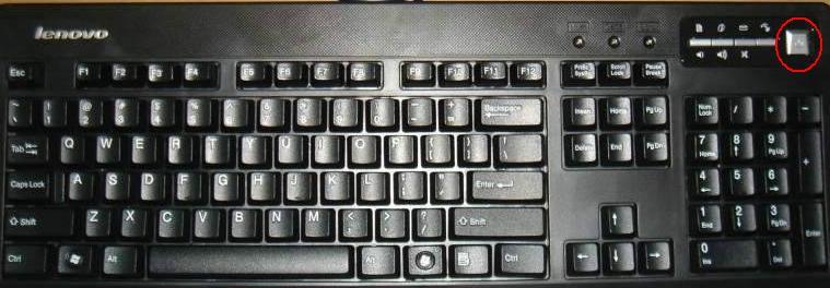 請教聯想揚天鍵盤右上角的關機鍵能用來開機嗎?謝謝圖片