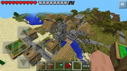 巨型村庄种子_我的世界手机板有超大型村庄的地图种子