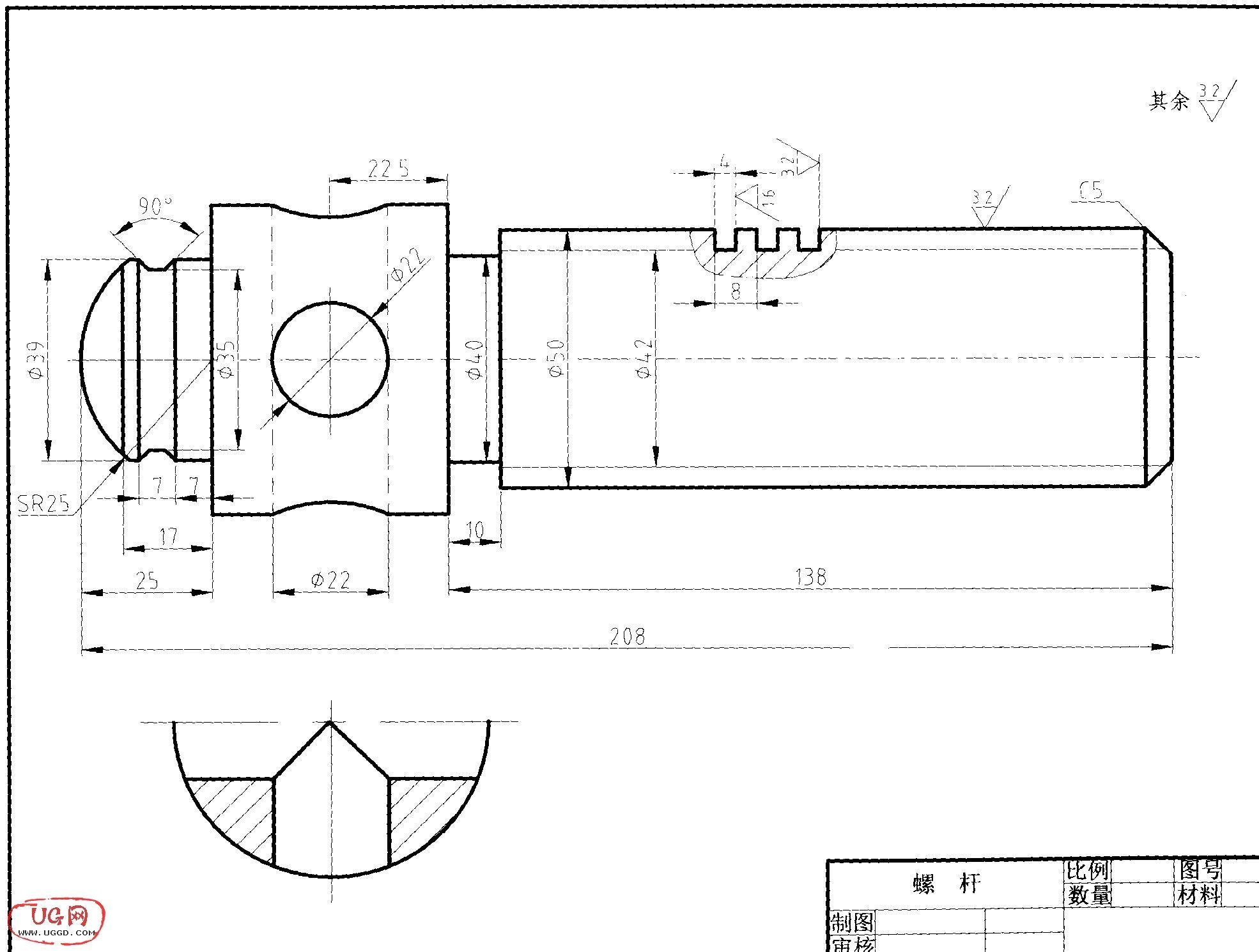 管螺纹画法_指教矩形螺纹的画法,就螺纹没画了,详细点。_百度知道
