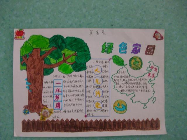 小学生一年级剪贴报_小学一年级环保剪贴报怎么做?_百度知道