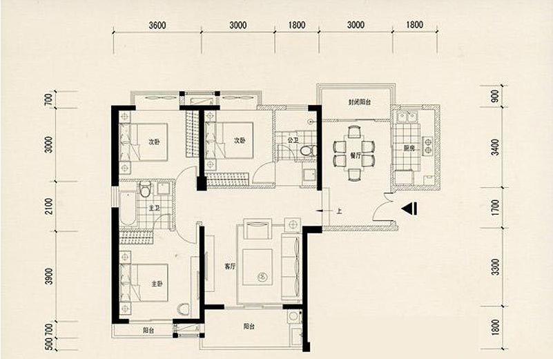 農村要三個臥室兩個衛生間一個書房一個廚房一個客廳一個餐廳一個樓梯圖片