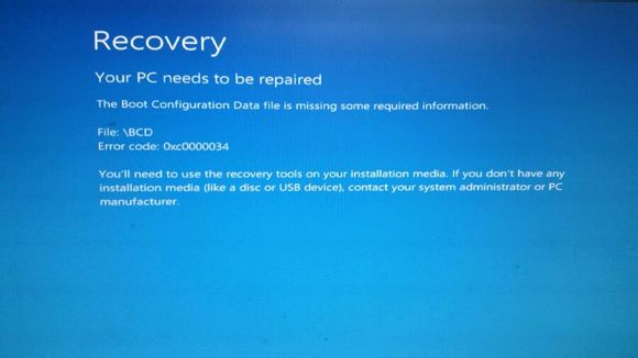 雙系統win8初始化系統后藍屏進不去怎么辦圖片