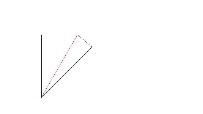 小学奥数题 添加一条直线_小学四年级奥数题目 添加一条直线, 使下面图形划分为2个三角 ...