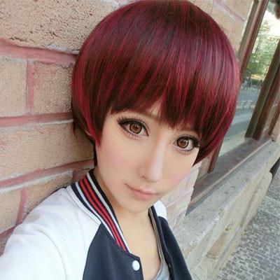发尾挑染红色头发_谁有酒红色挑染银白色 刘海部分 的图片_百度知道