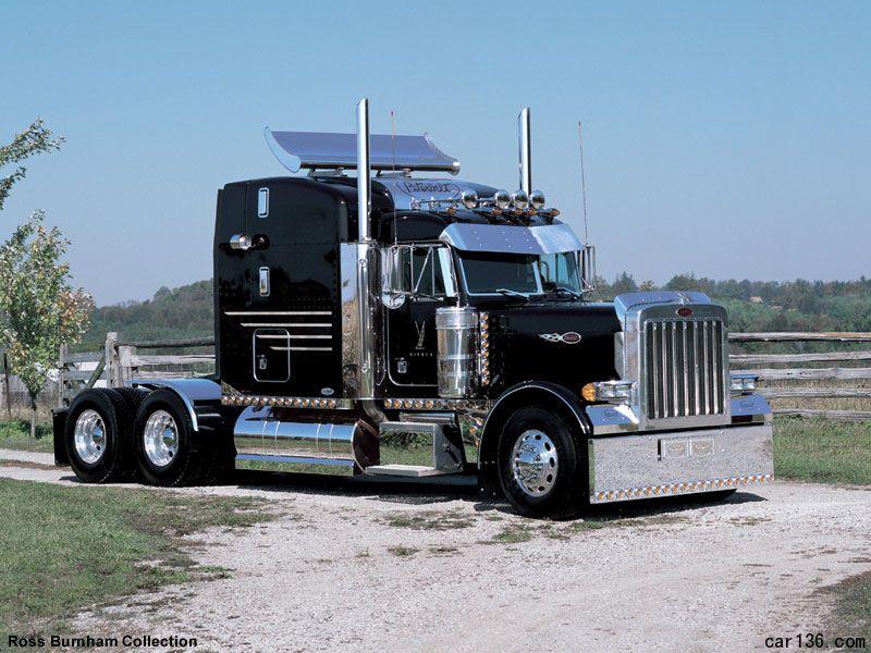 美国卡车_Peterbilt 389 牵引卡车头 求图片_百度知道