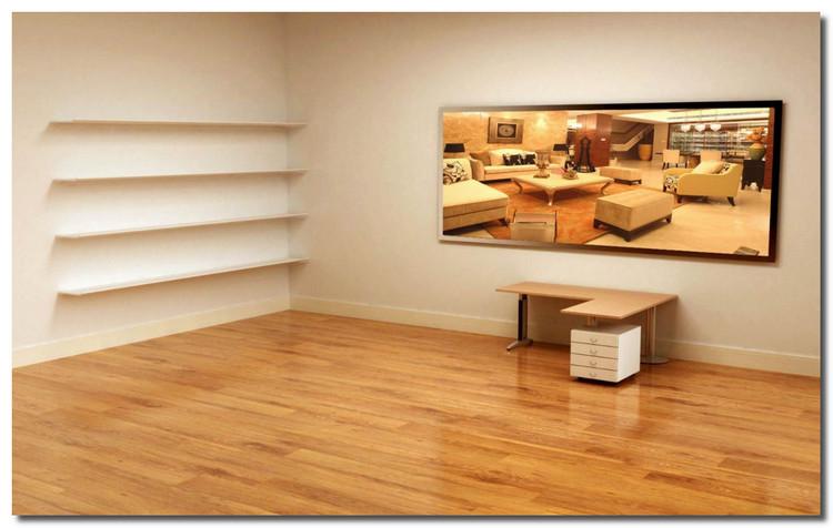 电脑创意桌面_电脑桌面创意壁纸 好像有一张是一个房间,黄白的,有电视书柜 ...