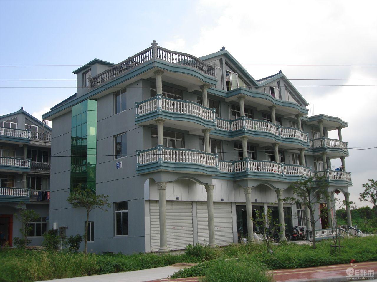 五间二层楼房涂什么颜色_层别墅设计图纸带效果图 新农村房屋设计图 农村房屋外观设