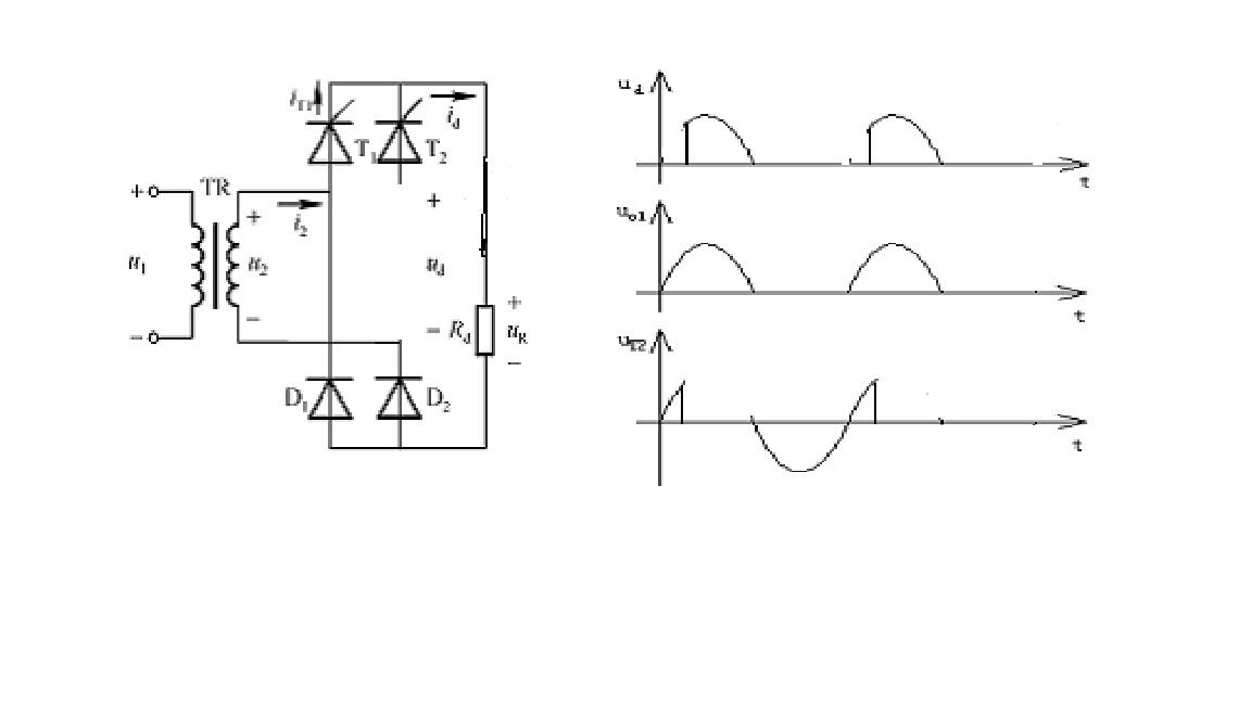 桥式半波整流电路_某电阻性负载的单相半控桥式整流电路,若其中一只晶闸管的阳 ...