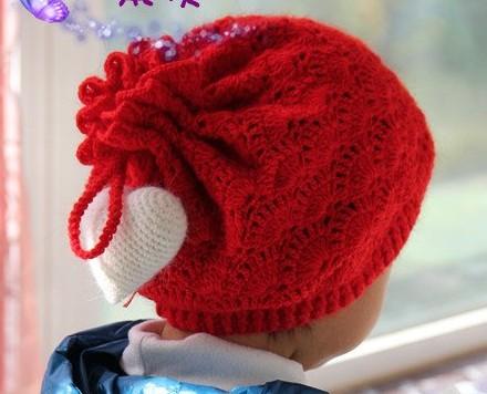 手工编织女宝宝帽子_钩针编织帽子的方法及帽子图片_百度知道