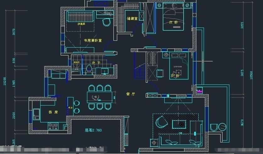 我要在電腦上畫一個平面圖,請問用什么軟件好?圖片