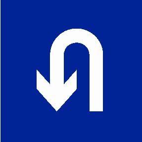 右转弯符号_这个标志可以左转掉头吗?_百度知道