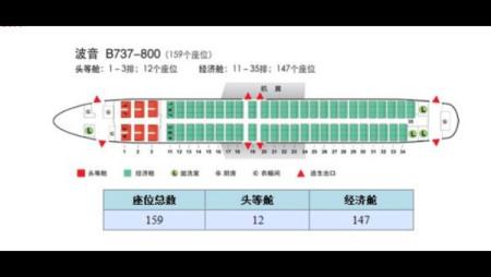 厦航737飞机座位分布�_波音738座位图_深航波音738座位图_海南航空738机型座位图-九九网