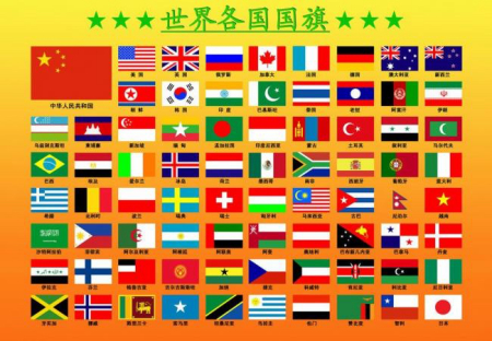 亚洲国家国旗_其中:亚洲(48个国家)东亚:中国,蒙古,朝鲜,韩国,日本(5)东南亚:菲律宾