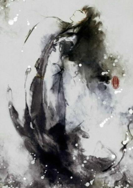 中文黑白动漫_求黑白水墨古装动漫人物图片