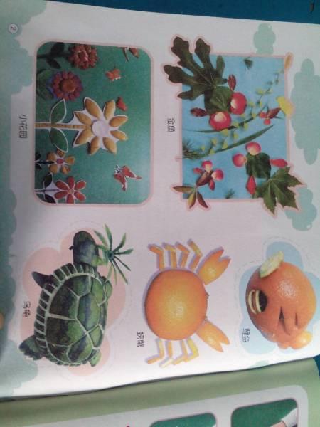 幼儿园青花瓷纸盘画图片_幼儿园水果蔬菜造型_幼儿999