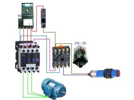 380v交流接触器接线图片 巴鲁夫接近开关BES 516