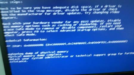 stop0x000000ed_蓝屏代码stop 0x000008e(0xc0000005 0×24b9b002 0×