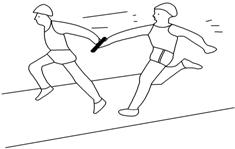 甲,乙兩個同學在直跑道上進行接力跑交接棒練習.圖片